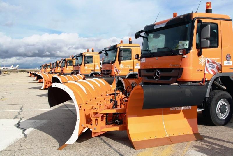 El Plan Invierno dispone de 2,3 M € y más de 100 vehículos quita nieve y hielo.