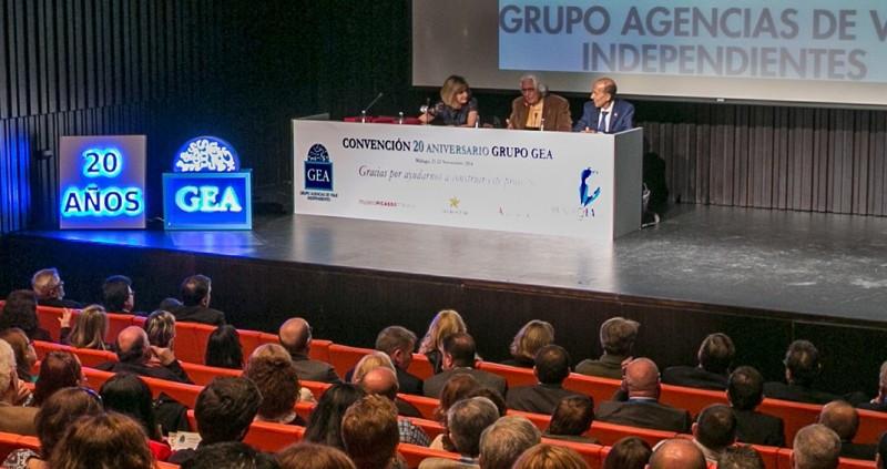 Miguel Fluxá, durante su intervención en la convención de GEA.