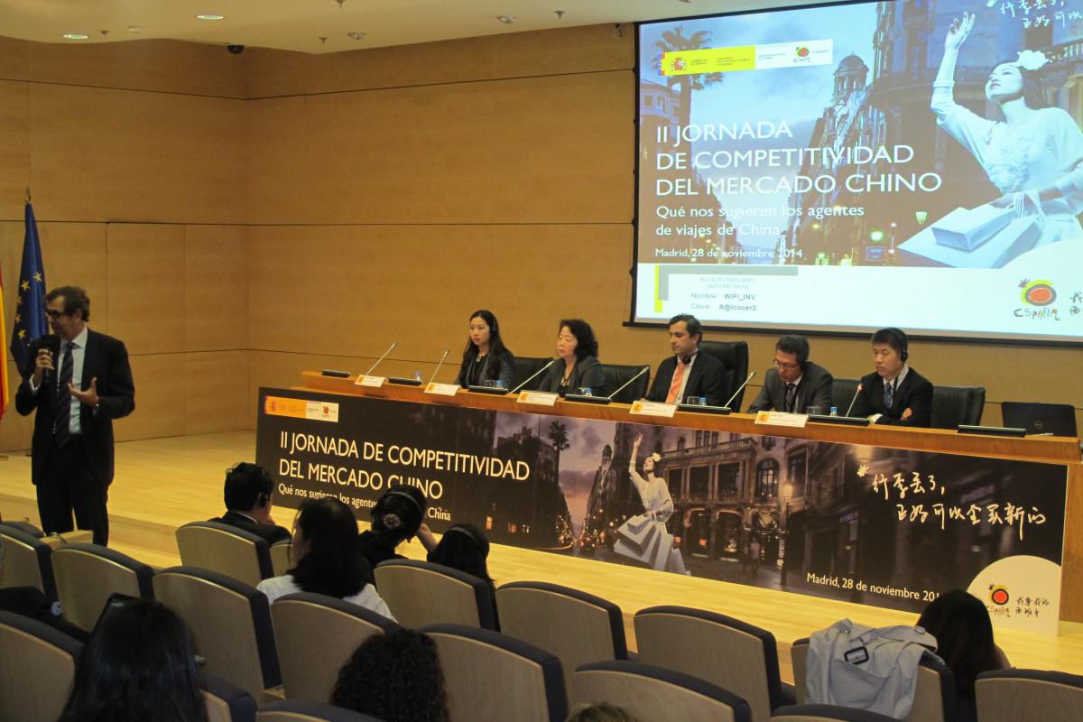 Agentes de viajes chinos se desplazaron a España para participar en la jornada.