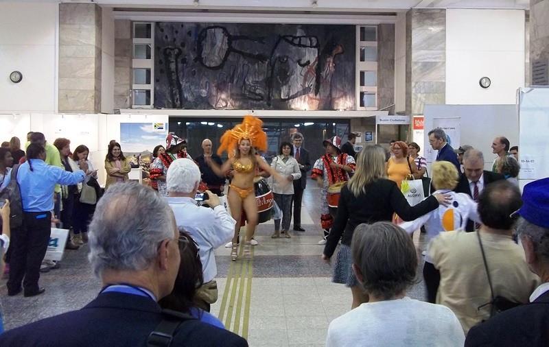 La clausura fue con un espectáculo de candombe.