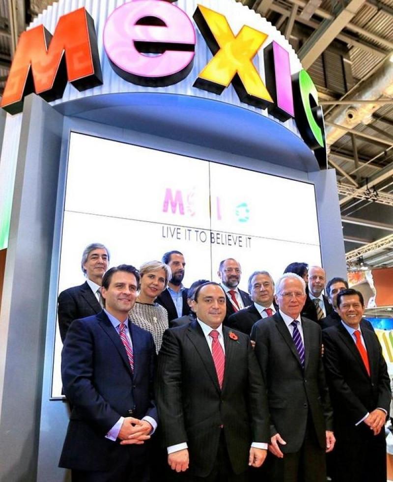 Delegación de México en el stand de la WTM 2014.