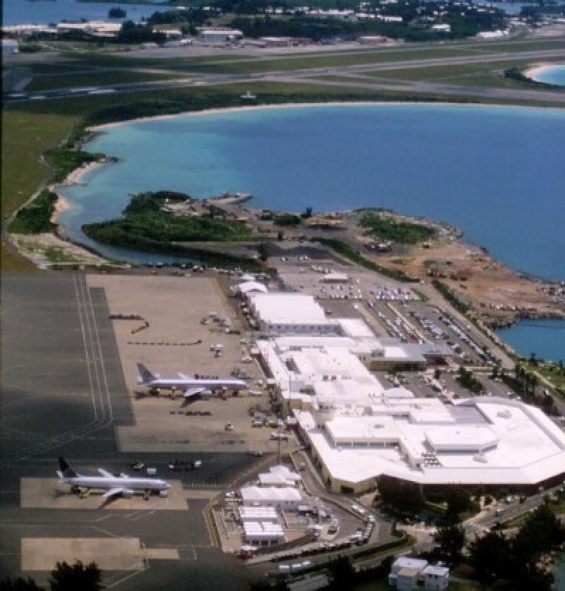 Actual aeropuerto que sirve a las islas Bermudas.
