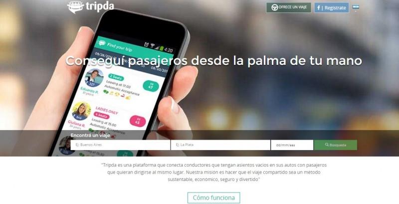 Tripda ya conecta a conductores y pasajeros en Argentina y Uruguay