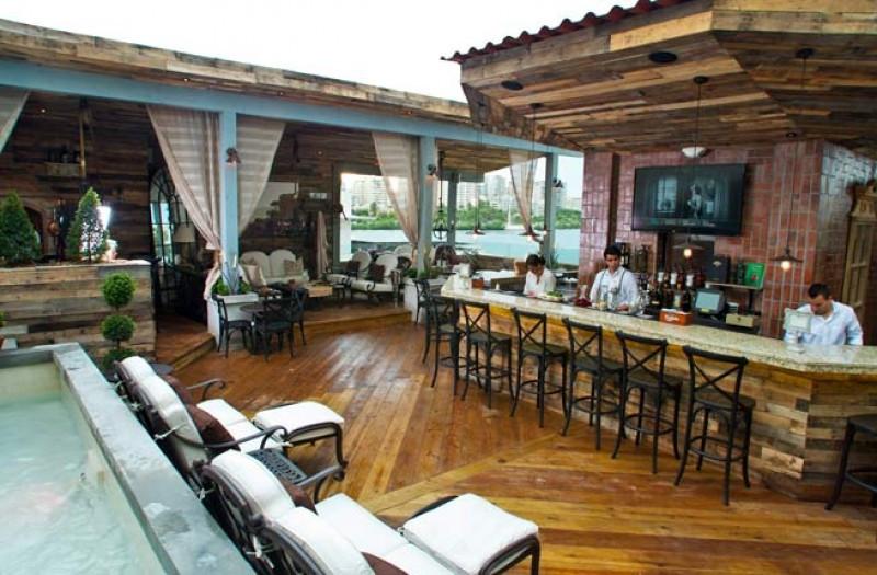 Terraza del O:live Boutique Hotel de San Juan de Puerto Rico.