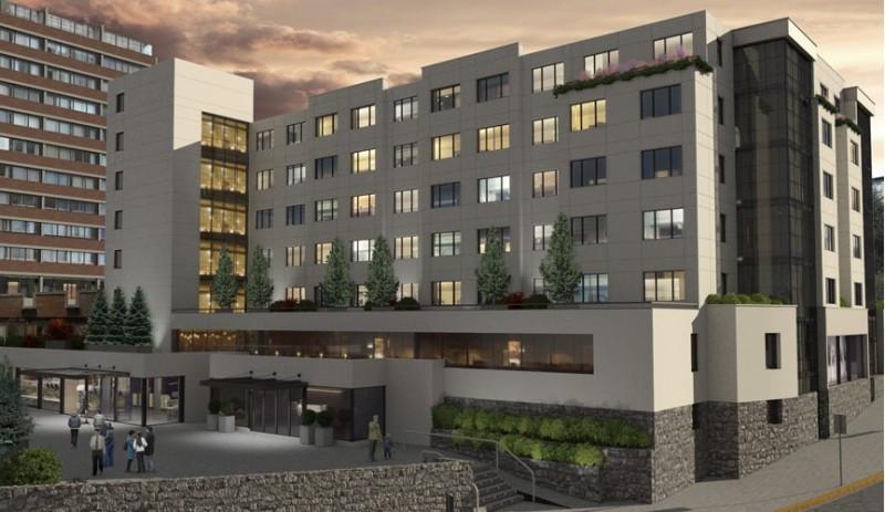 El hotel formará parte de un complejo con cocheras, locales comerciales y centro de convenciones.
