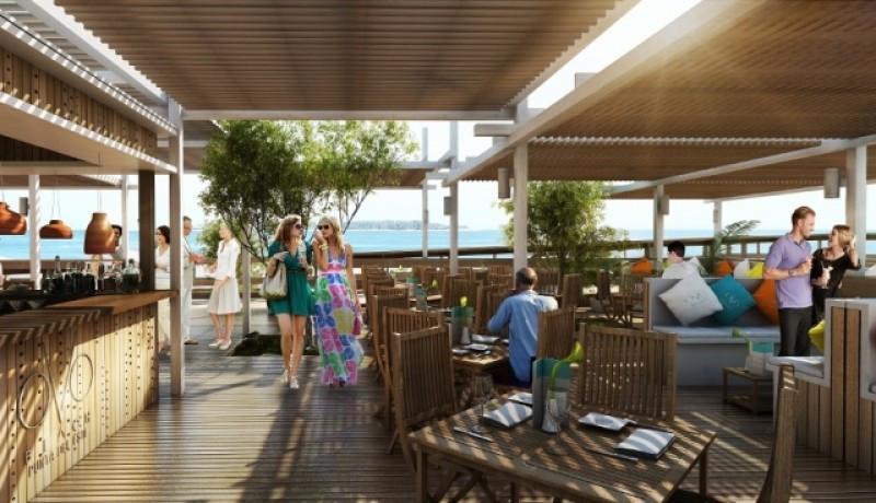Diseño del parador OVO Beach de Conrad.