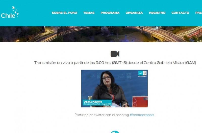 Exposición de Larissa Perdomo, gerente de Marca País, Uruguay XXI