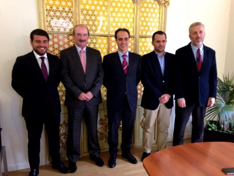 De izq a Da., Javier Bonet, Antonio González, Álvaro Gijón, Javier Vich y Pedro Homar.