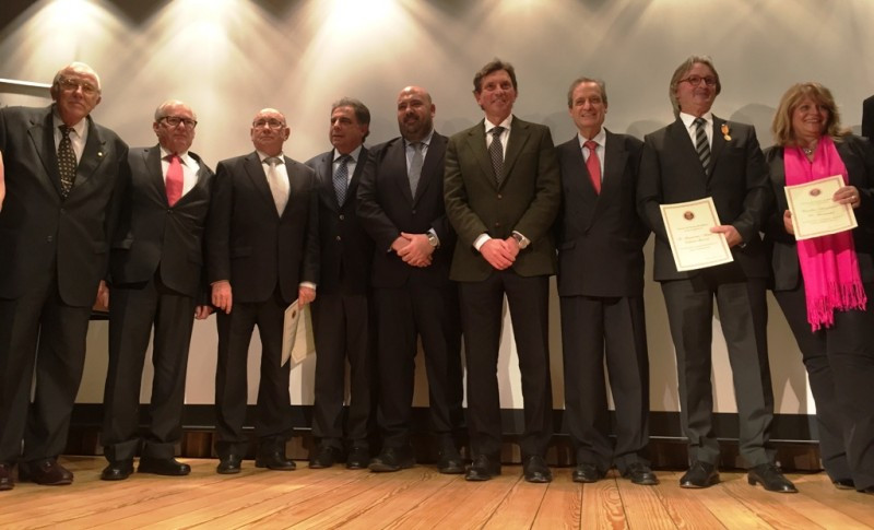 Foto de grupo al término de la entrega de los premios de Fomento de Turismo de Mallorca.