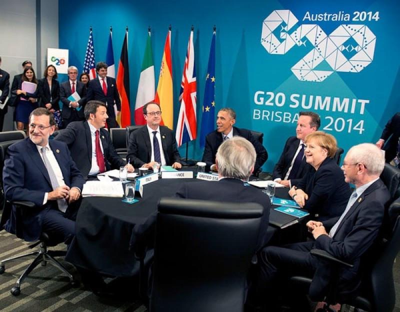 Líderes mundiales en la Cumbre del G20.