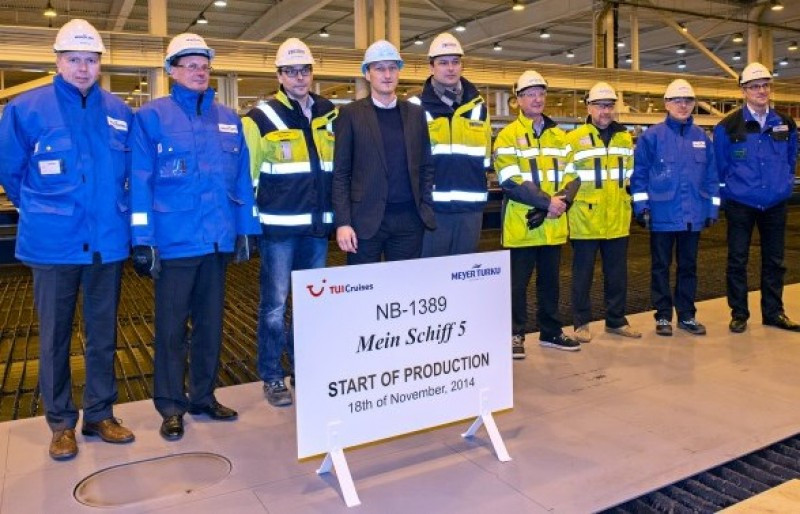 La construcción del Mein Shiff 5 ha comenzado en noviembre.