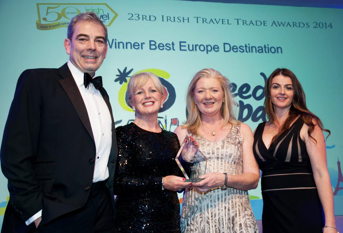 Reconocimientos al turismo español en la 23 edición de los Irish Travel Trade Awards.
