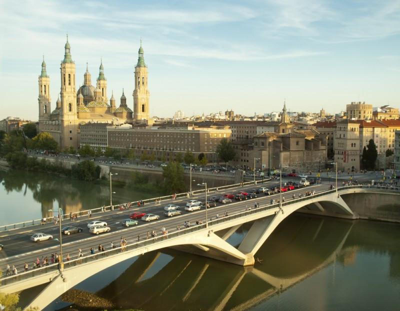 Vista de la Catedral de Zaragoza. #shu#.