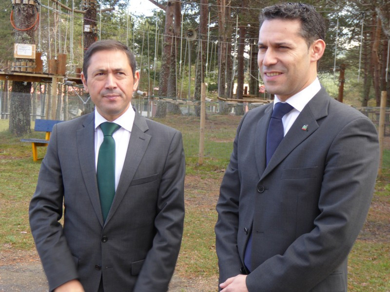 Ramón Braña (izqu) junto a Gustavo Sanmartín.