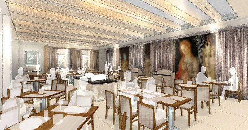 Los clientes repetidores encontrarán mejores experiencias en las áreas renovadas de restaurantes, bares, lobby, recepción, discoteca y teatro. En la imagen, el restaurante italiano del hotel.