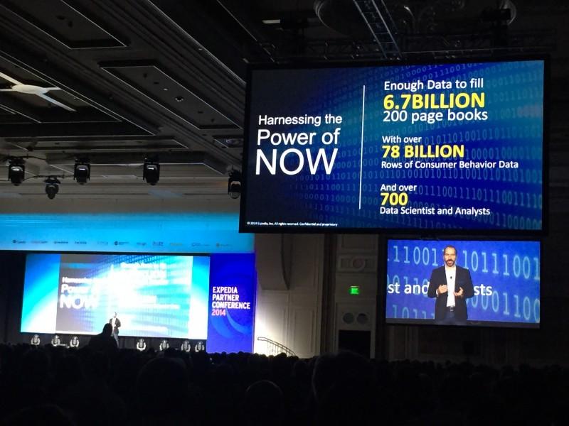 Dara Khosrowshahi, CEO de Expedia, durante la presentación de la decimoquinta edición de la Conferencia de Expedia en Las Vegas.