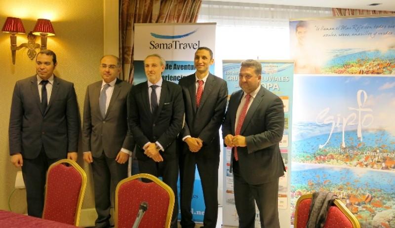 Una imagen del acto de presentación de los nuevos vuelos chárter desde España a Egipto.