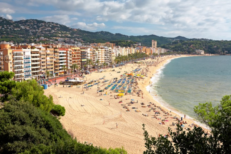 Lloret de Mar, uno de los municipios turísticos más importantes de Cataluña. #shu#