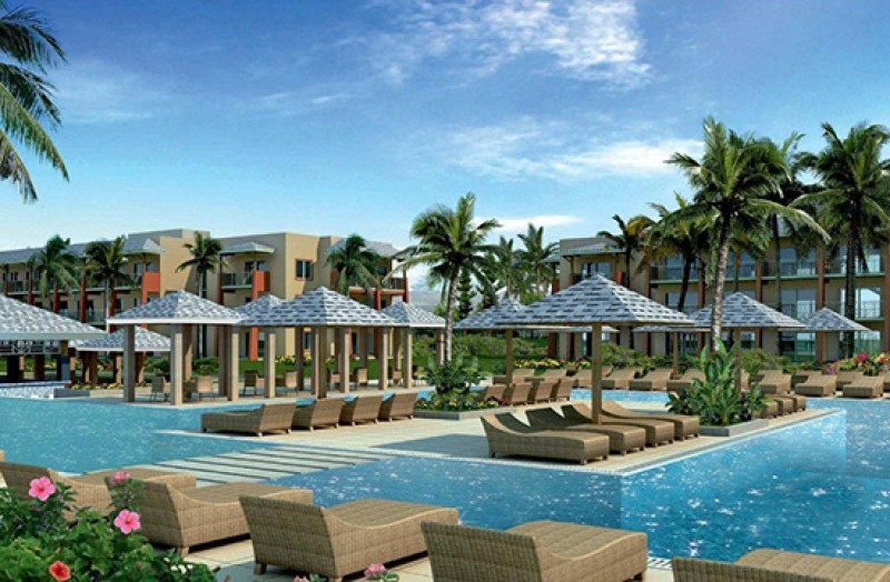 Infografía de una de las cinco piscinas del Meliá Jardines del Rey.