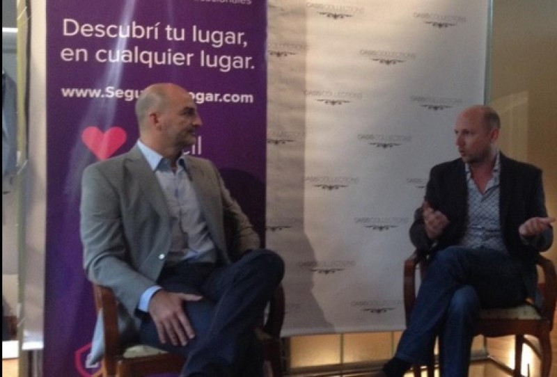 Diego Noriega (CEO de SegundoHogar.com) y Parker Stanberry (CEO de Oasis Collections).