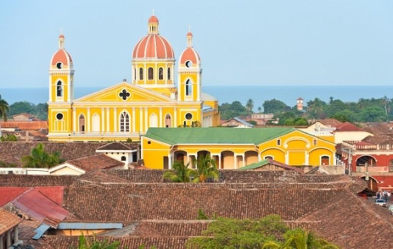 Ciudad colonial de Granada, en Nicaragua. #shu#
