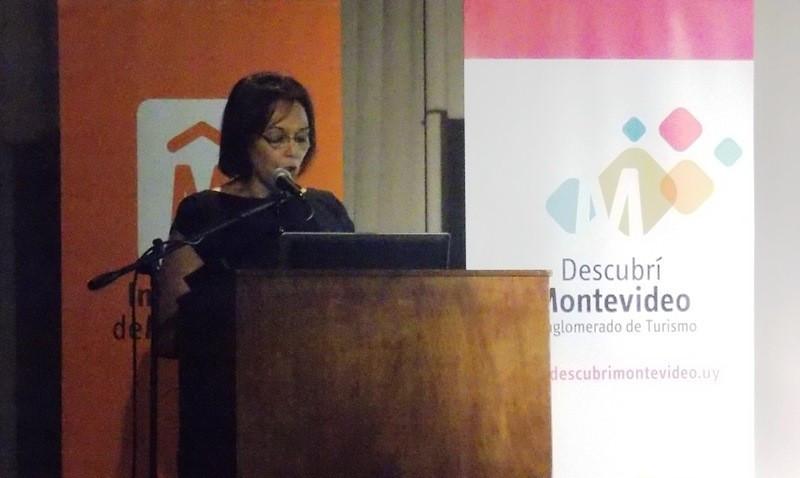 Mary Boñe, presidenta del Conglomerado de Turismo de Montevideo.