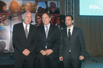 Izquierda a derecha: Enrique Meyer (MINTUR), Oscar Ghezzi (CAT), Roberto Palais (INPROTUR).