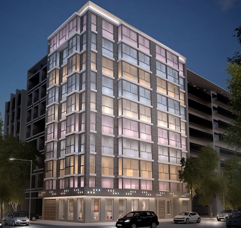 El nuevo hotel se encuentra en Soriano y Andes, integrando un circuito que busca establecerse como Barrio de las Artes.