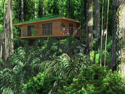 Quedó inaugurado el Hotel Moconá Virgin Lodge en la selva misionera.