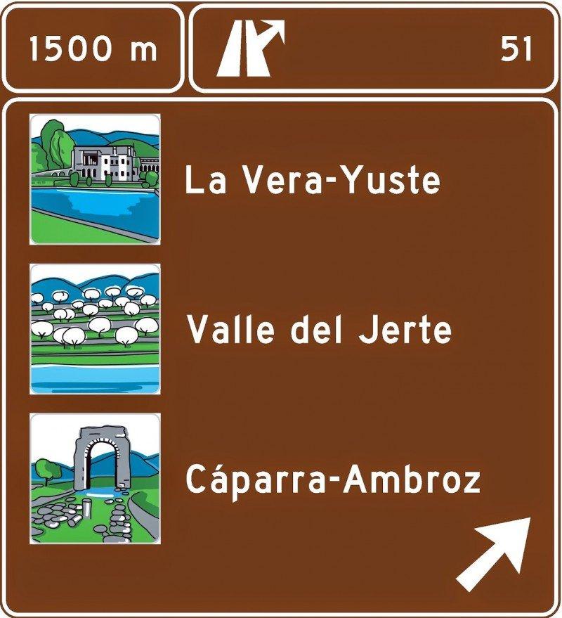 La señalización turística en carreteras principales añade 200 destinos.