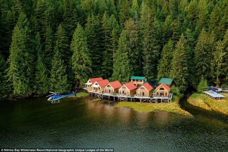 El resort Nimmo Bay Wilderness, en Canadá, es otro de los 24 hoteles boutique que integran National Geographic Unique Lodges of the World.