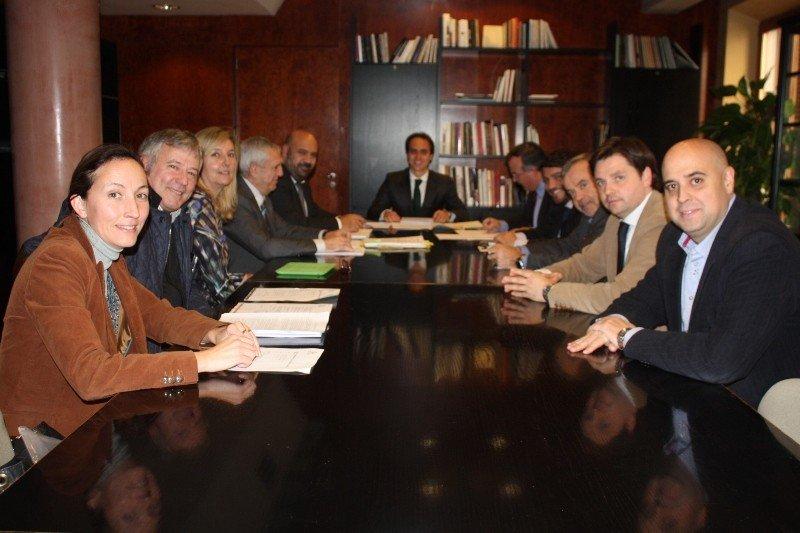 Reunión del Consejo de Administración del Palacio de Congresos-Hotel de Palma de Mallorca.