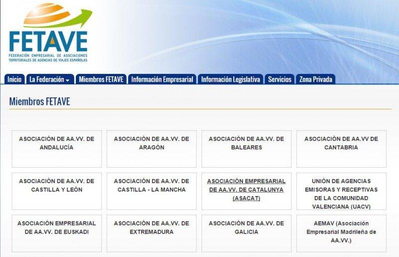 En la web de FETAVE todavía figuran UACV y la asociación de Castilla´La Mancha.