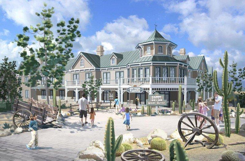 El hotel Gold River incorporará en junio un nuevo edificio temático de 78 habitaciones.