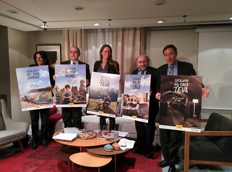 Presentación de la nueva campaña de turismo de Cataluña para el ejercicio 2015.