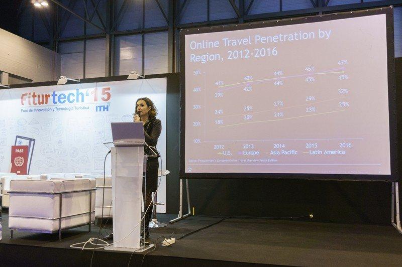Florence Kaci, Director Business Development Europe Phocuswright. FiturTech 2015.