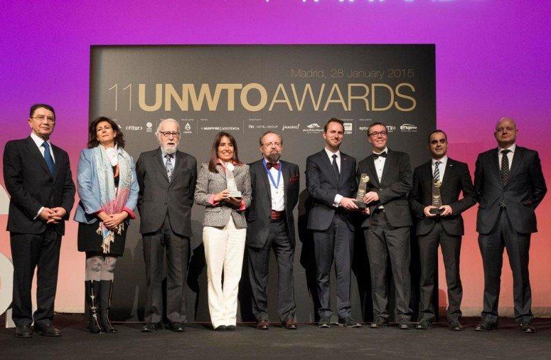 Entrega de los premios Ulises 2015 de la OMT.