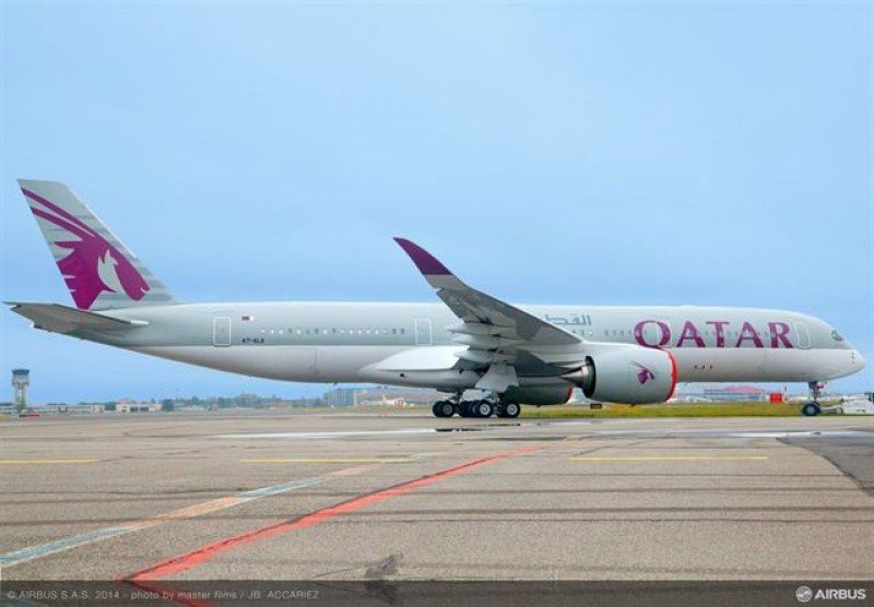 Qatar Airways ofrecerá wifi en su primer Airbus A350