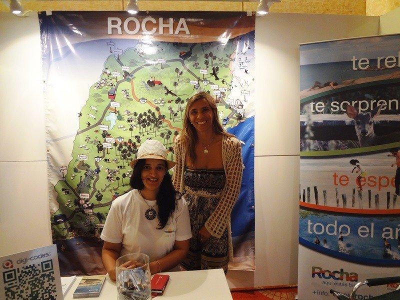 Ana Claudia Caram en el stand de Rocha en la feria Fituy 2015 de Punta del Este.