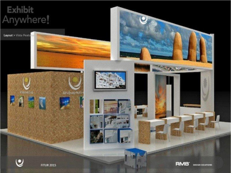 Diseño del stand de Uruguay para Fitur 2015.