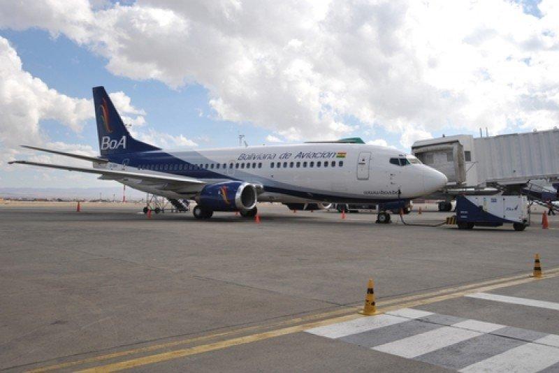 El crecimiento del tráfico aéreo en Bolivia es liderado por la compañía BoA. #shu#