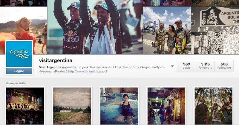Cuenta oficial de Argentina en Instagram.