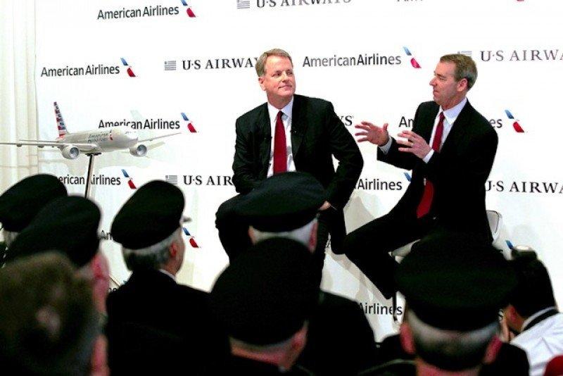 El primer ejercicio tras la fusión de American Airlines y US Airways arrojó resultados económicos positivos.
