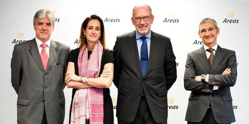 Directivos del grupo Áreas: Xavier Massó, Montse Adán, Pedro Fontana y Oscar Vela.