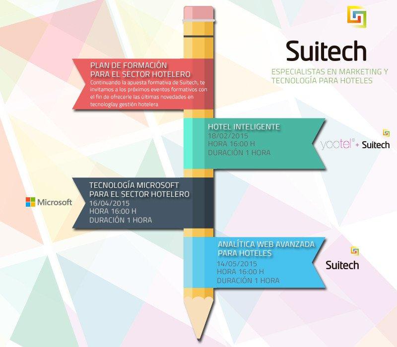 El programa formativo de Suitech pretende ofrecer las últimas novedades en el área de los sistemas de gestión y de las herramientas de comunicación.