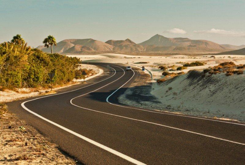 Un paisaje de Fuerteventura. #shu#