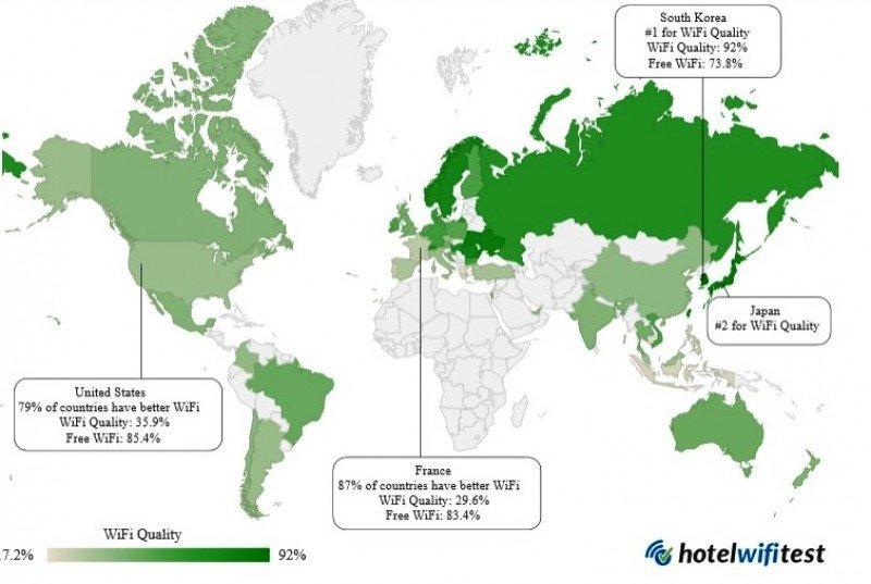 Ranking de ciudades con mejor y peor wifi en hoteles