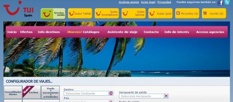 TUI Spain acaba de lanzar una plataforma con doble función B2B/B2C.