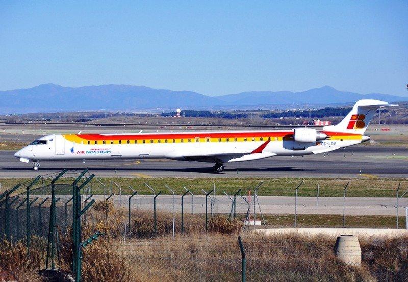 El modelo CRJ 1000 de Air Nostrum (Foto: Spotterpoint.org/ Ivan Sanz).