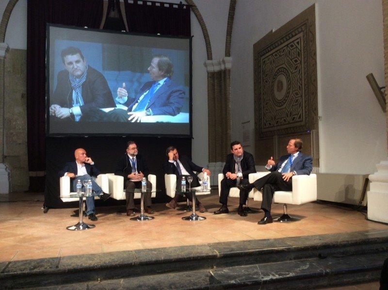Kike Sarasola, Fernando Gallardo, Rafael Gallego, Pedro Antón y Ramón Estalella, de izquierda a derecha.